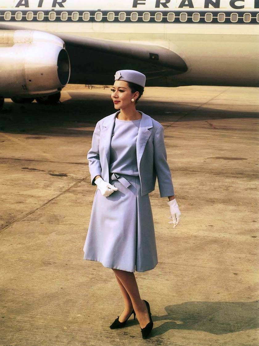 Air France Madame Magazine June July 2013 Ioanna Ntenti: A Cultural History Of Flight Attendant Uniforms, From Go